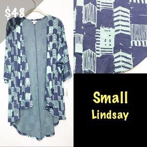 NWT LuLaRoe Small Lindsay Jacquard Geometric